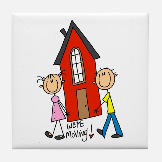 House We're Moving Tile Coaster