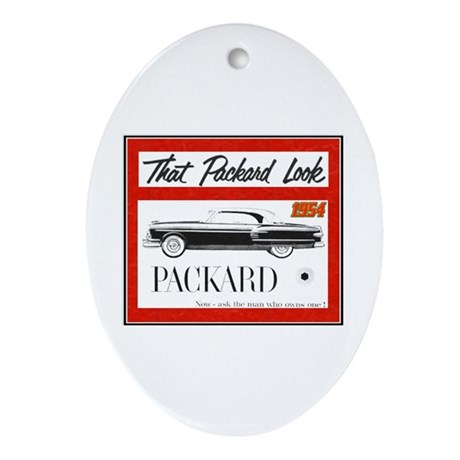 """""""1954 Packard Ad"""" Oval Ornament"""