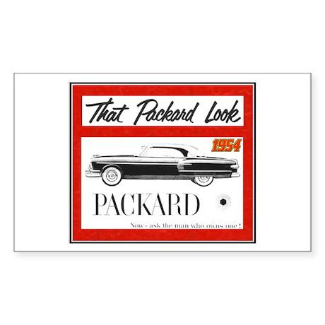 """""""1954 Packard Ad"""" Rectangle Sticker"""