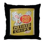 Red Dot Potato Chips Throw Pillow