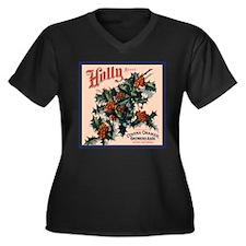 Holly Orange Crate Label Women's Plus Size V-Neck
