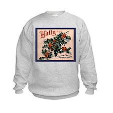 Holly Orange Crate Label Sweatshirt
