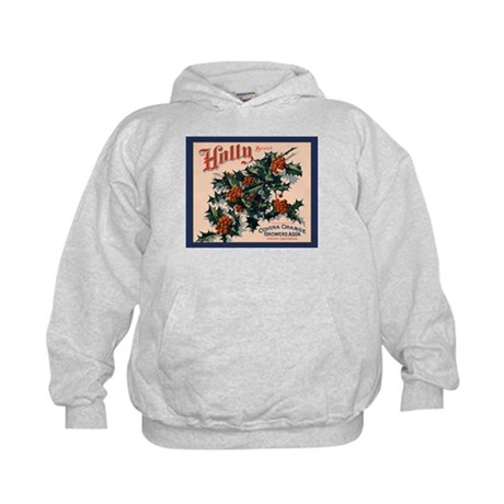 Holly Orange Crate Label Kids Hoodie