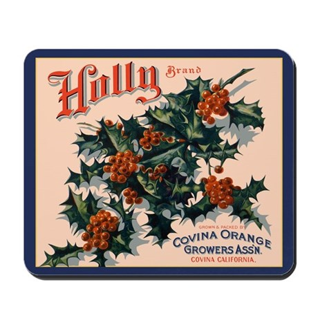 Holly Orange Crate Label Mousepad