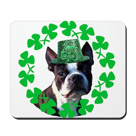 Kiss me I'm Irish Boston terr Mousepad