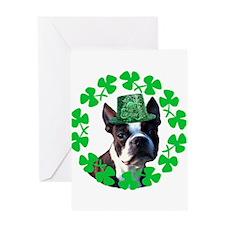 Kiss me I'm Irish Boston terr Greeting Card