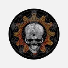 """Gear Skull [d]: 3.5"""" Button"""