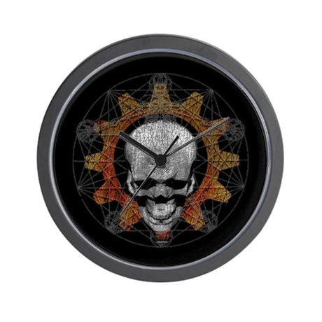 Gear Skull [d]: Wall Clock