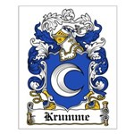 Krumme Coat of Arms Small Poster