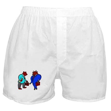 Wall Street Bull and Bear Boxer Shorts