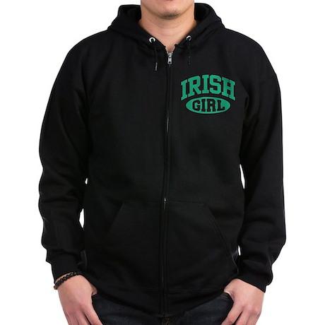 Irish Girl Zip Hoodie (dark)