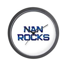 nan rocks Wall Clock