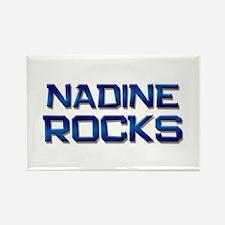 nadine rocks Rectangle Magnet