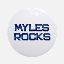 myles rocks Ornament (Round)