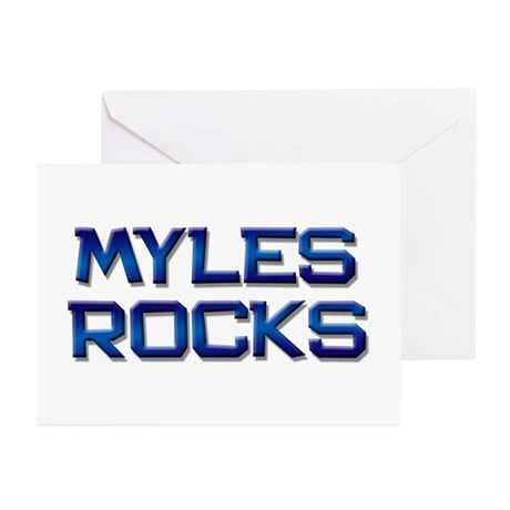 myles rocks Greeting Cards (Pk of 20)