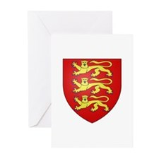 Medieval England (3 lions) Greeting Cards (Pk of 2