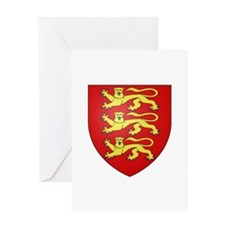 Medieval England (3 lions) Greeting Card