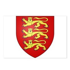 Medieval England (3 lions) Postcards (Package of 8