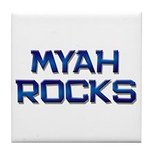myah rocks Tile Coaster