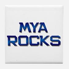mya rocks Tile Coaster