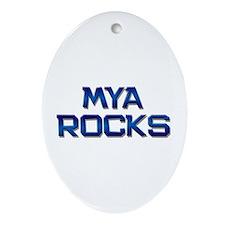 mya rocks Oval Ornament