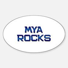 mya rocks Oval Decal