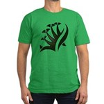 Tribal Frond Men's Fitted T-Shirt (dark)