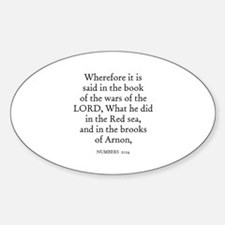 NUMBERS 21:14 Oval Decal