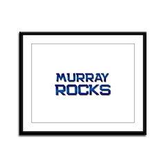 murray rocks Framed Panel Print