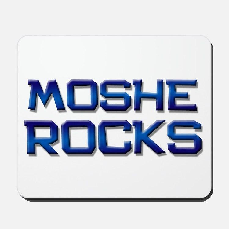 moshe rocks Mousepad