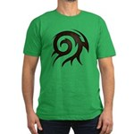 Tribal Twirl Men's Fitted T-Shirt (dark)