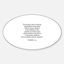 NUMBERS 21:13 Oval Decal