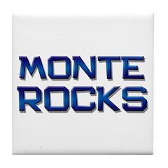monte rocks Tile Coaster