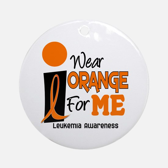 I Wear Orange For ME 9 Leukemia Ornament (Round)