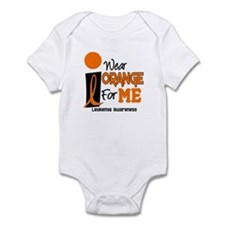 I Wear Orange For ME 9 Leukemia Infant Bodysuit