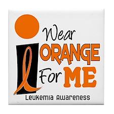 I Wear Orange For ME 9 Leukemia Tile Coaster