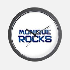 monique rocks Wall Clock