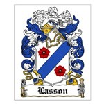Lasson Coat of Arms Small Poster