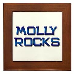 molly rocks Framed Tile