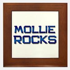 mollie rocks Framed Tile