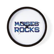moises rocks Wall Clock