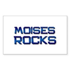 moises rocks Rectangle Decal