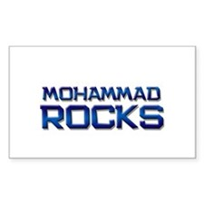 mohammad rocks Rectangle Decal