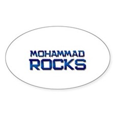 mohammad rocks Oval Decal