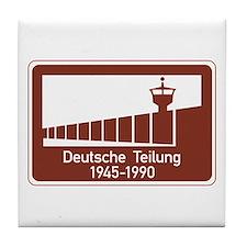 Berlin Wall 1945-1990, Germany Tile Coaster