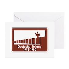Berlin Wall 1945-1990, Germany Greeting Cards (Pk