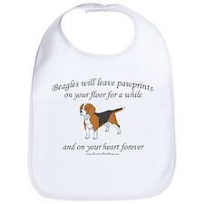 Beagle Pawprints Bib
