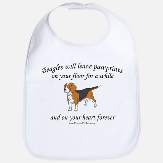 Beagle Pawprints Bib