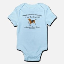 Beagle Pawprints Infant Bodysuit
