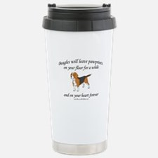 Beagle Pawprints Travel Mug